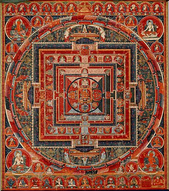 Deity yoga - Mandala of the Forms of Manjushri, the Bodhisattva of Transcendent Wisdom