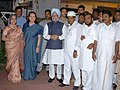 Manmohan Singh, his wife Smt. Gursharan Kaur, the Chairperson, UPA, Smt. Sonia Gandhi and the Minister of State, Prime Minister's Office, Shri Prithviraj Chavan at an Iftar Party, hosted by the Prime Minister.jpg