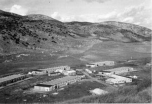 Biranit - Army camp built on al-Manusra village land in 1948. Evolved into Biranit IDF base.