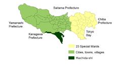 Location of Machida City