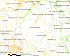 Map commune FR insee code 61007.png