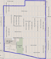 Map of Fairfax district, Los Angeles, California.png