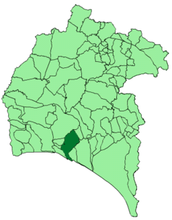 Location of Huelva
