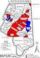 Map of Lackawanna County Pennsylvania With Municipal and Township Labels.png