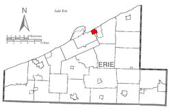 Location of Lawrence Park Township in Erie County