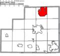 Map of Medina County Ohio Highlighting Brunswick City.png