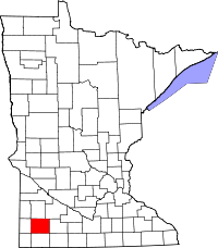 Locatie van Murray County in Minnesota