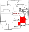 State map highlighting Chaves County