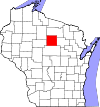 State map highlighting Lincoln County