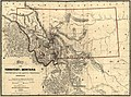 Map of the territory of Montana with portions of the adjoining territories - showing the gulch or placer diggings actually worked and districts where quartz (gold & silver) lodges have been discovered LOC 2006629609.jpg
