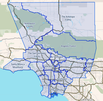 Mapping L.A. - Mapping L.A. boundaries of the Los Angeles Times