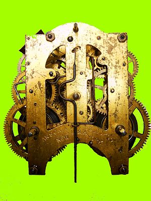Clockwork -  Mechanism of a Wall Clock, Ansonia Co. 1904