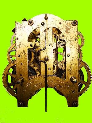 Clockwork -  Mechanism of a Wall Clock, Ansonia Co. 1904