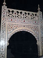 Marble Screen for the Tomb of Mumtaz inside Taj Mahal.JPG