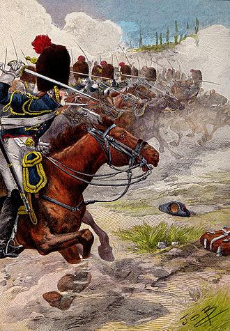 Grenadiers à Cheval de la Garde Impériale - Charge of the Grenadiers à cheval at Marengo, 1800.