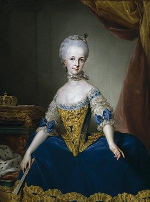 Archduchess Maria Josepha of Austria - Portrait by Anton Raphael Mengs, 1767