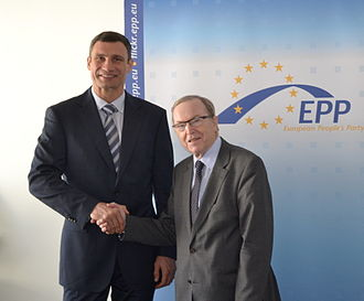 Vitali Klitschko - Klitschko with Wilfried Martens, former president of the European Peoples Party.