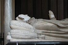 La tomba nell'abbazia di Westminster