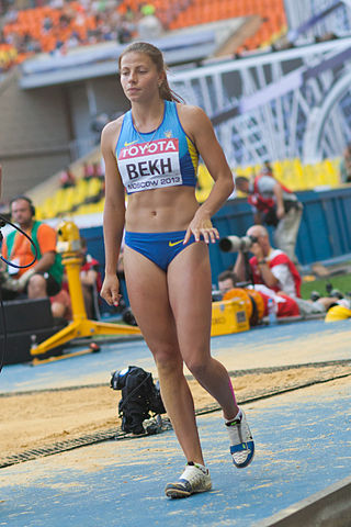 Maryna Bekh (2013 World Championships in Athletics) 03.jpg