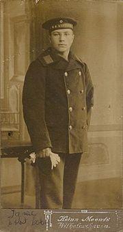 A crew member of SMS Westfalen