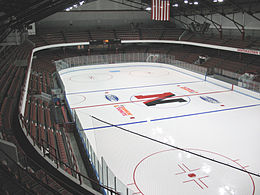 Matthews Arena interior in 2009