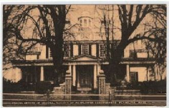 The Mayflower Society - Mayflower Society Headquarters (Mayflower House Museum) in Plymouth, Massachusetts in an early 20th-century postcard