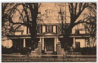 Eleanor Silliman Belknap Humphrey - Mayflower Society Headquarters (Mayflower House Museum) in Plymouth, Massachusetts, in an early 20th-century postcard