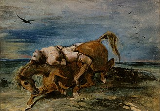 Mazeppa on the Dying Horse - Delacroix, 1824.jpg