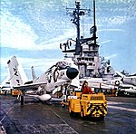 McDonnell F3H-2 Demon of VF-151 aboard USS Coral Sea (CVA-43), circa in 1962.jpg