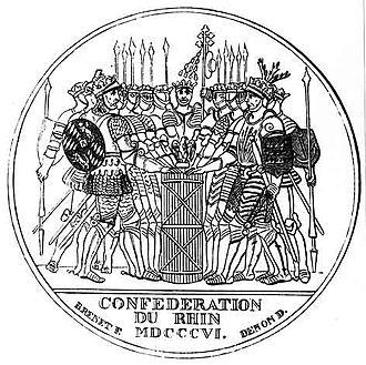 Confederation of the Rhine - Image: Medaille rheinbund 472