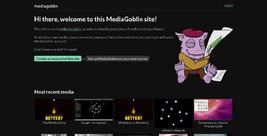 MediaGoblin homepage screenshot.png