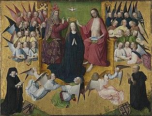 Rinck-Epitaph: Krönung Mariens mit Stiftern (und Werkstatt)