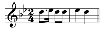 Leading-tone - Image: Melodic upper leading tone in Brahms Op 56