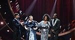 Melodifestivalen 2019, deltävling 1, Scandinavium, Göteborg, programledarna, 9.jpg