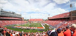 Memorial Stadium (Champaign) - Image: Memorial Stadium Re Dedication