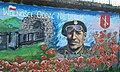 Memory wall painting of General Stanislaw Maczek in Ustrzyki Dolne, Poland.jpg