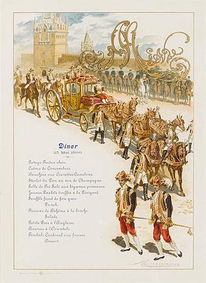 Ernst Friedrich von Liphart - Menu for Nicholas II's coronation by Lipgart