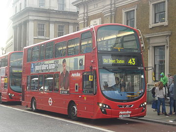 Metroline VW1255 on Route 43, London Bridge.jpg