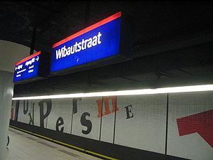 Gerard Unger - Wibautstraat metro station (Amsterdam, Netherlands), July 2005