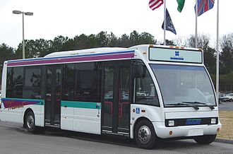 North American Bus Industries - Image: Miami 30LFN Curb Front