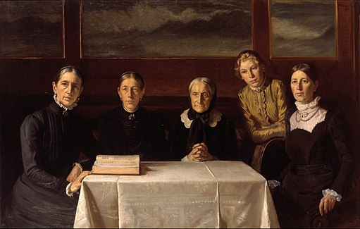 Michael Ancher - Christmas Day 1900 - Google Art Project