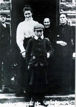 Michael Collins (Irish leader) - Michael Collins at the age of 8 with his family.