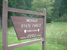 Michaux State Forest sign.JPG