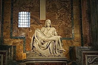 Pietà (Michelangelo) - Image: Michelangelo's Pieta 5450