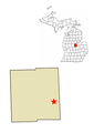 Michigan and county map.png
