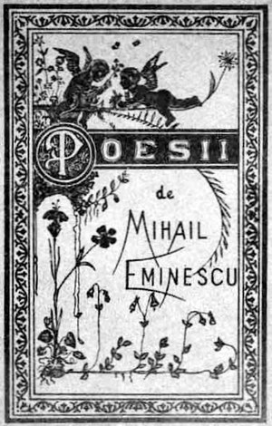 Poesii, first book of poems of Mihai Eminescu ...