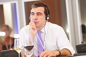 Mikheil Saakashvili attending the European People's Party congress in June 2013.jpg