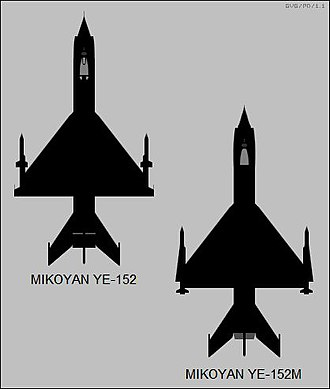Mikoyan-Gurevich MiG-25 - YE-152 and YE-152M experimental interceptor