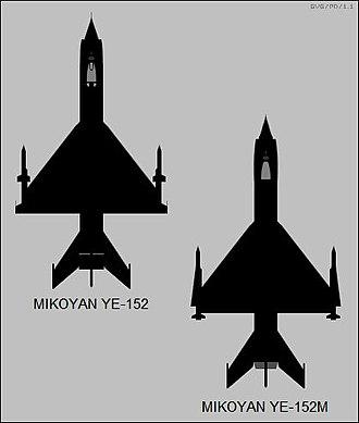 Mikoyan-Gurevich MiG-25 - YE-152 and YE-152M experimental interceptor