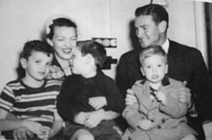 Keith Miller and his family